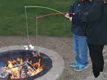 Fire cooking for Fire fishing pole